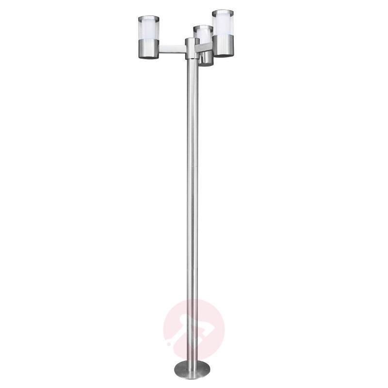 Modern Basalgo stainless steel LED post light - Pole Lights