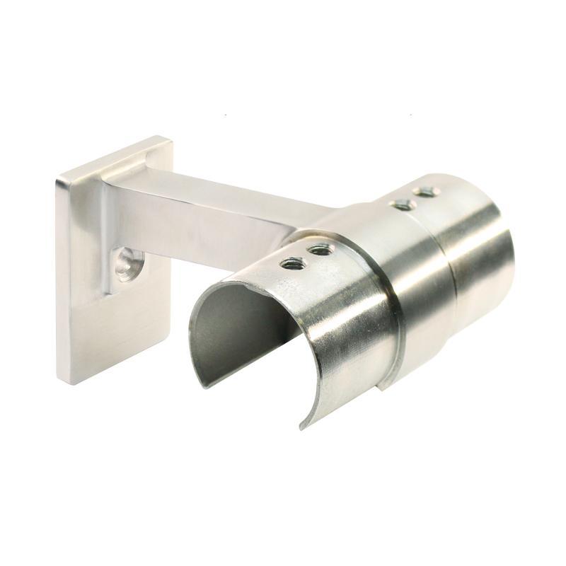 Handrail bracket for frame tube Ø 42,4 mm, wall connection - Handrail brackets