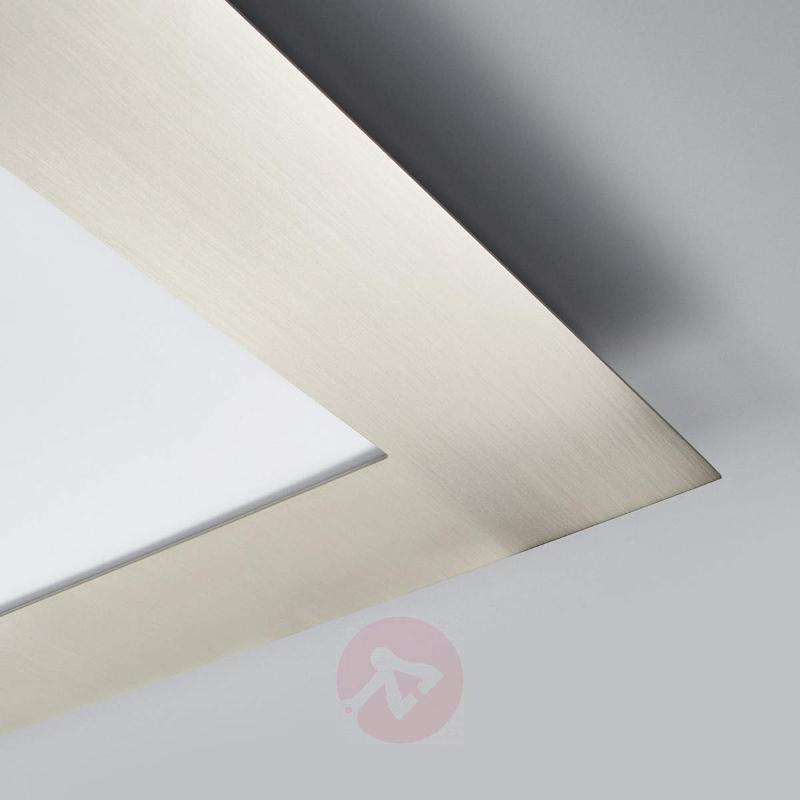Deno - high-quality LED panel, matt nickel - Ceiling Lights