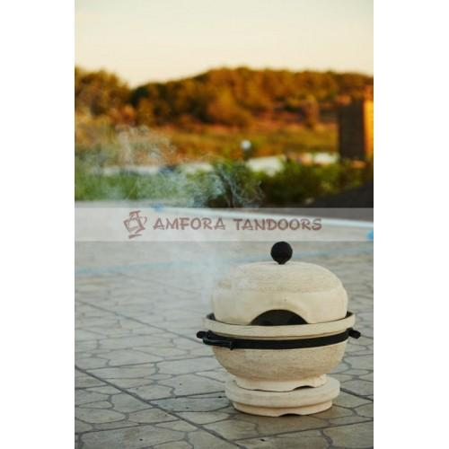 Table Brazier-barbecue  - Table ceramic brazier used for cooking barbeque, fish, poultry