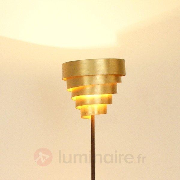Éclatant lampadaire BANDEROLE brun et doré - Tous les lampadaires