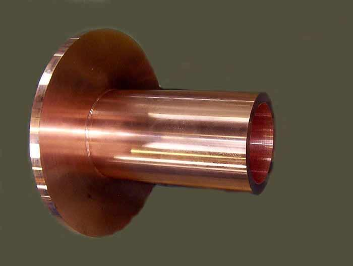 Continuous casting moulds in copper alloys