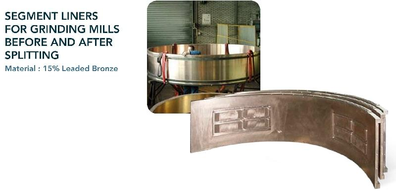 Segment liners  - Cement & mining industry - grinding mills
