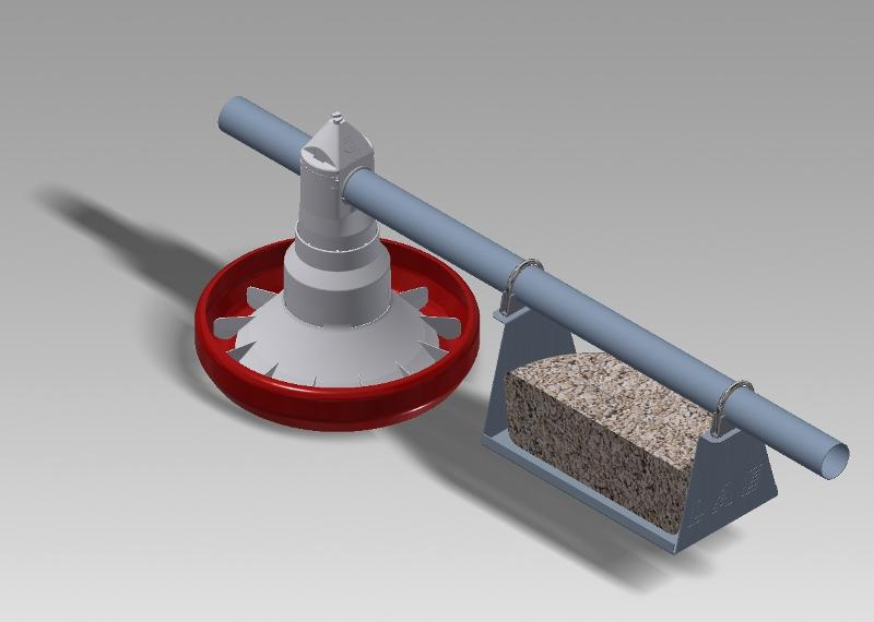 Picker holder for the welfare of broilers chickens - null