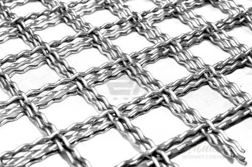 Изделия из канилированной (рифлёной) стальной сетки -