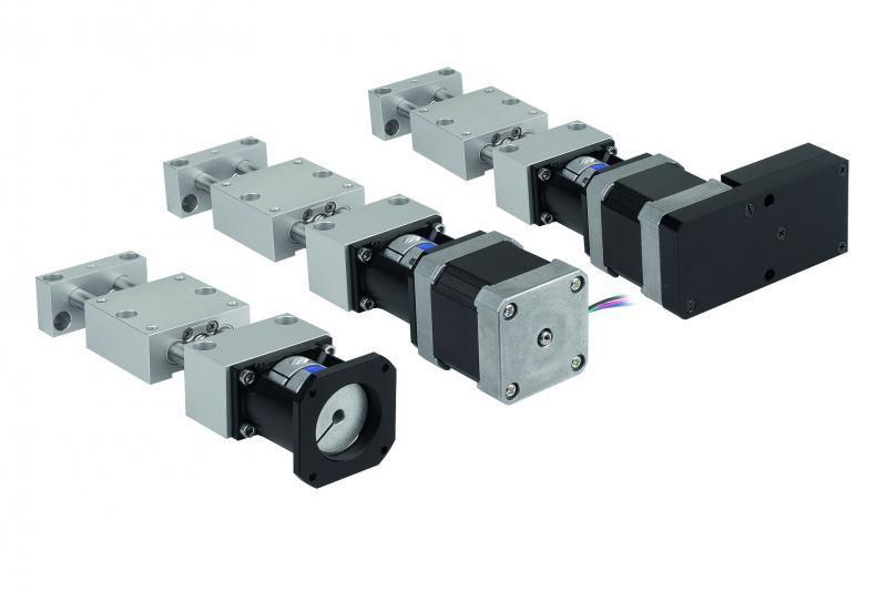 Positioniertische koaxial - Positioniertische kurz oder lang mit elektrischem Antrieb koaxial