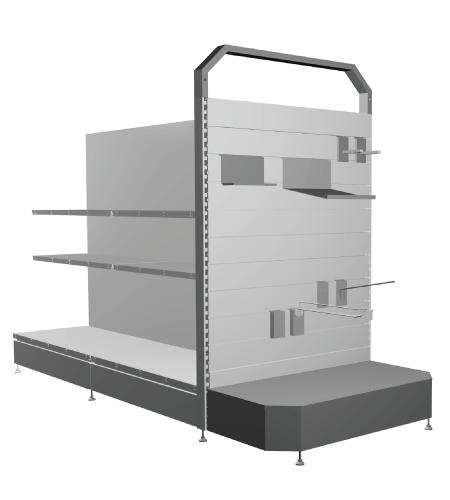 Modular shop rack systems & instore interior shelving design - Face frames