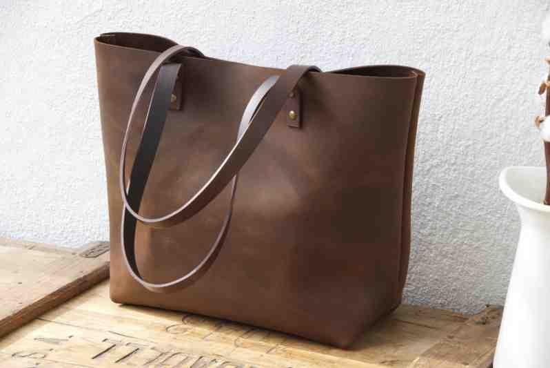 Leather Tote Bag - B08