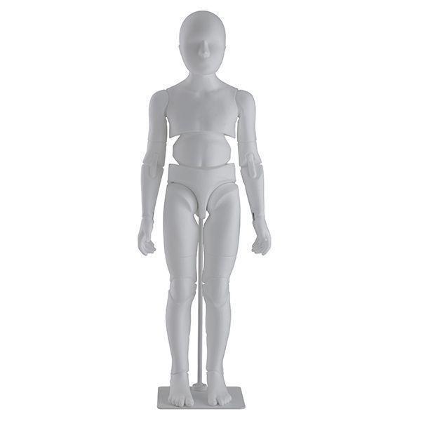 Flexible kid display mannequin - Flexible articulated mannequin