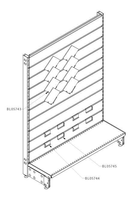 Modular shop rack systems & instore interior shelving design - Tiles and plinth presentation
