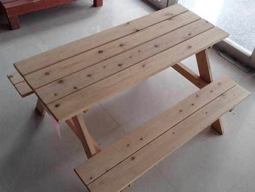 Children's outdoor table and chair - Wooden material tables abd chairs