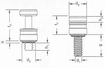 Self-clinching fasteners - PEM® - Self-clinching panel fasteners Type PFHV