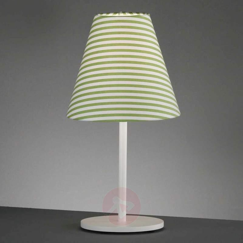 Green striped table lamp Alice - Bedside Lamps