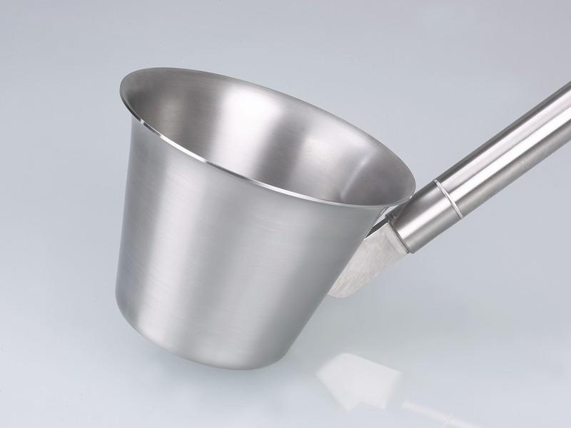 Stainless steel scoop - Sampler for liquids, sterilisable by flame sterilisation or steam sterilisation