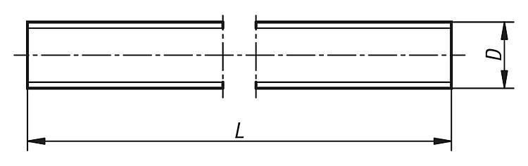Tige filetée acier ou Inox DIN 976-1 - Éléments de liaison