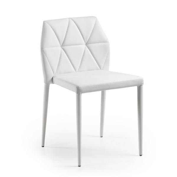 Silla tapizada Lavinia color blanco, negro - silla tapizada moderna