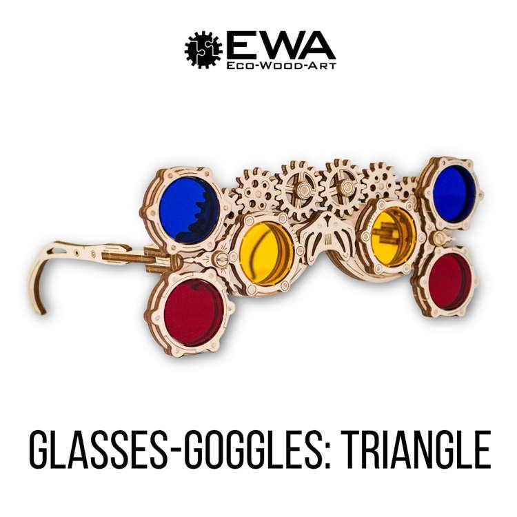 Очки Гогглы: Треугольник - Механическая модель очков в стиле стимпанк