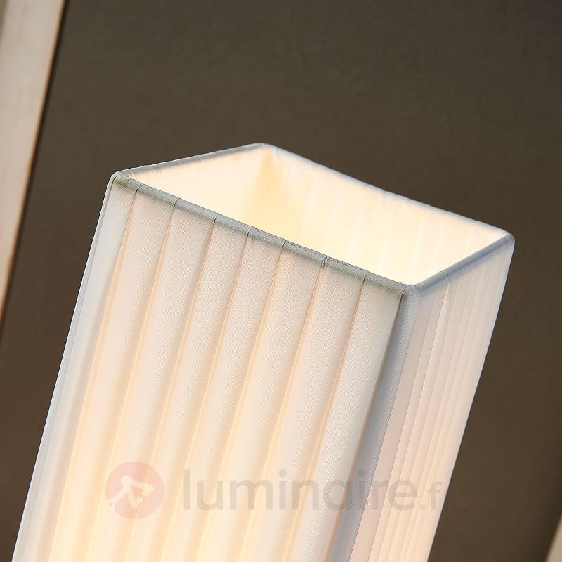 Lampadaire en tissu Janno avec abat-jour en coton - Lampadaires en tissu