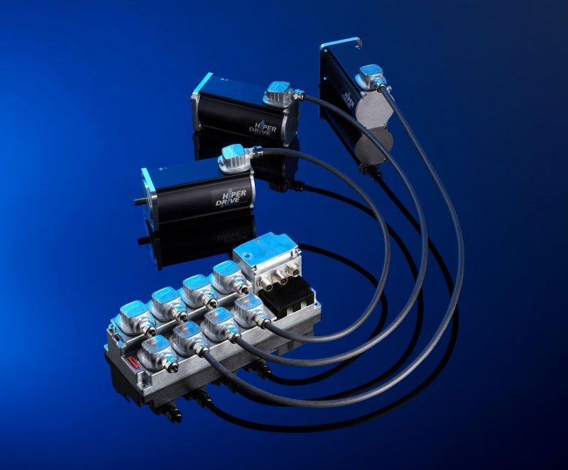 HIPERDRIVE Hub - Hub per sistema di posizionamento per il collegamento di max. otto azionamenti