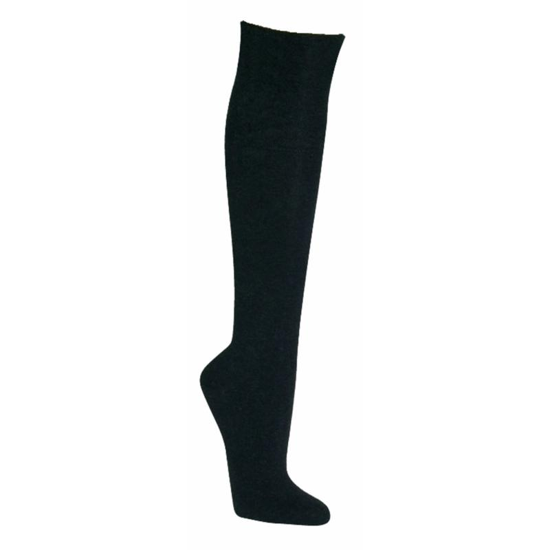 """6468 - Health Knee Socks """"Bamboo"""" - With extra-wide piquè-comfort-cuffs. Vein-friendly! Made of bamboo cellulose"""