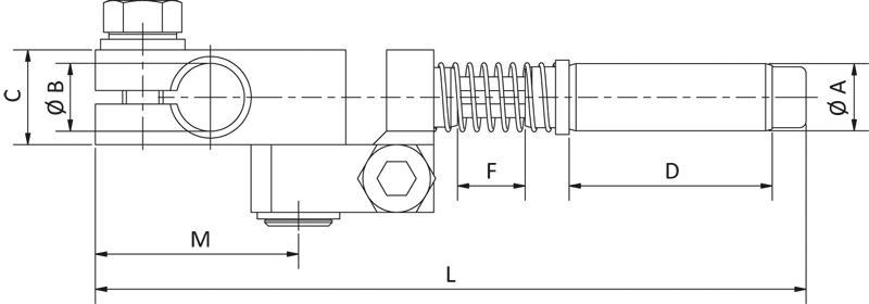 Winkelarme - gefedert, schwenkbar und verdrehgesichert - null