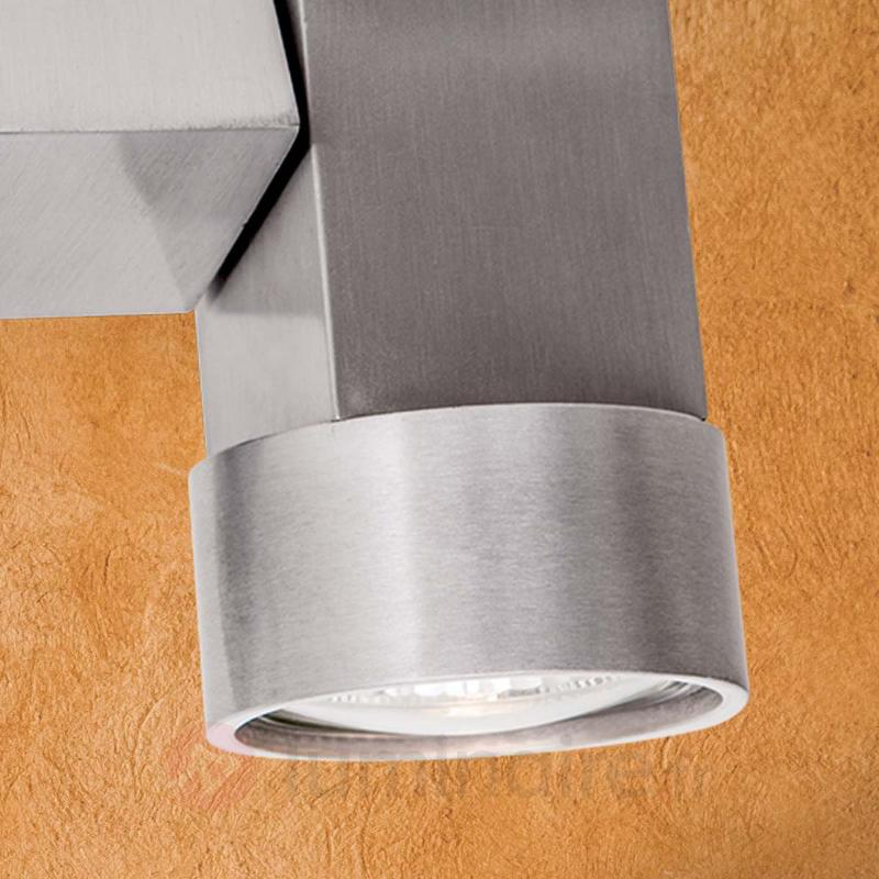 Spot halogène Zarina à deux lampes en alu - Spots et projecteurs halogènes