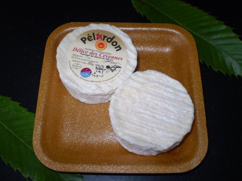 Pélardon AOP 2 x 60 gr sur polybronze x 8 UVC - Produits laitiers