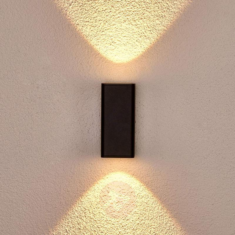 Ruja - dark grey outdoor wall light with LEDs - Outdoor Wall Lights