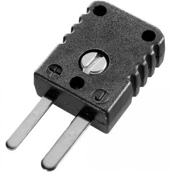 Miniature thermocouple connector type J, black - Thermocouple connectors