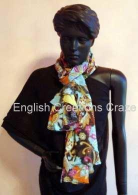 Polyester Jacquard Multi Color Scarves - Polyester Jacquard Multi Color Scarves