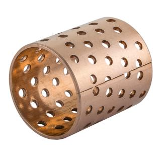 Wrapped bronze sliding bearing - with perforations - BRO-MET® / L