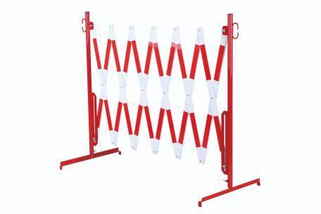 Barrière Extensible Rouge-blanc 4m Avec Pied - Barrières De Sécurité