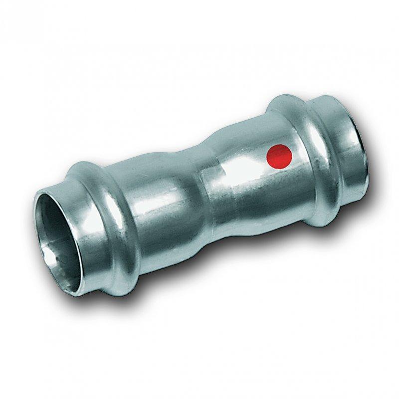 Muffe, beidseitig mit Pressanschluss aus Edelstahl - Hochwertige Edelstahl-Pressfittings und Edelstahlrohre 1.4301 (AISI 304), EPDM