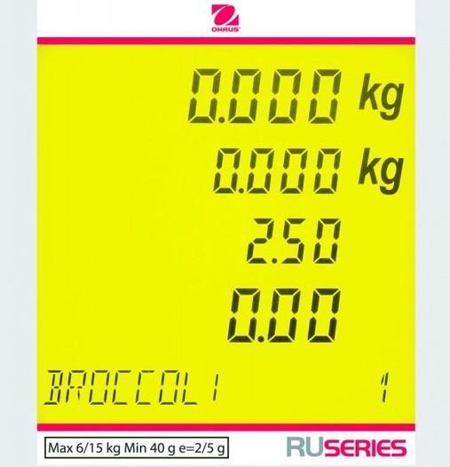 RU - Ladenwaage 12 kg - null