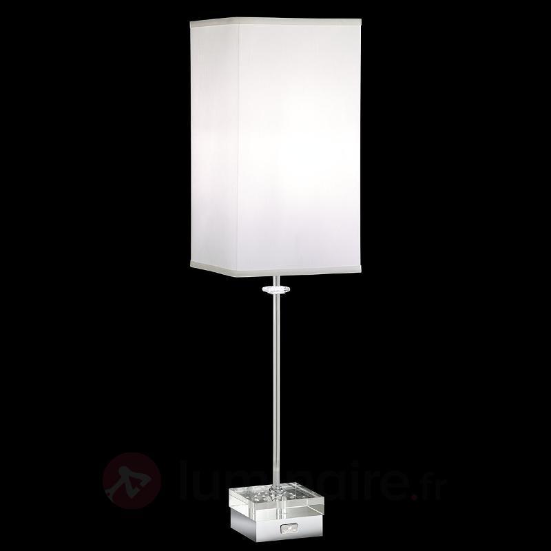 Lampe à poser Brillet, cristaux, variateur tactile - Lampes à poser en tissu