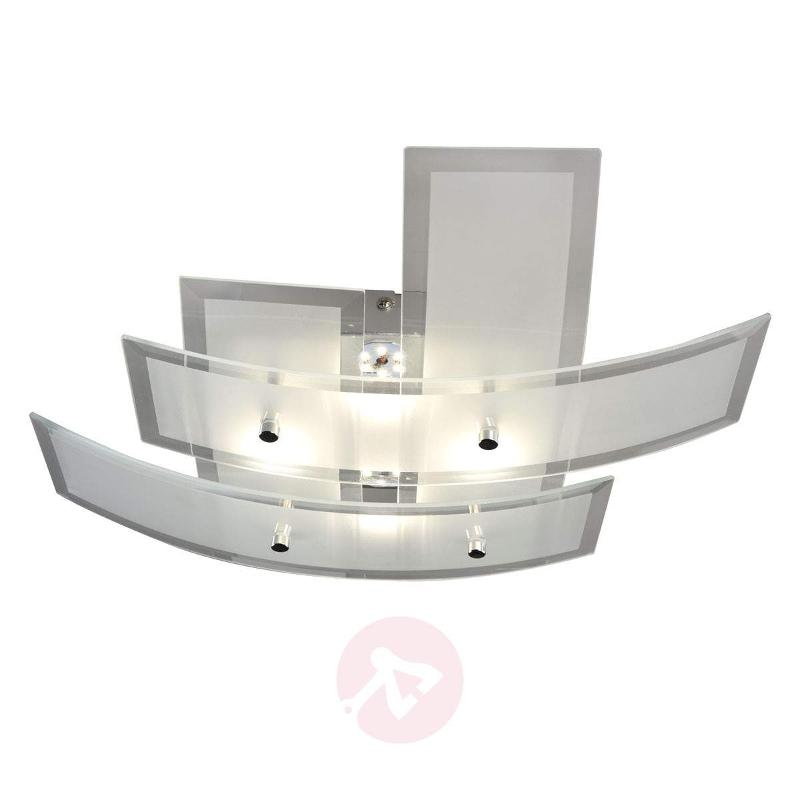 Elina trendy LED ceiling light w. glass lampshade - Ceiling Lights