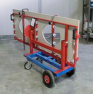 Quad - carrello manuale porta lastre - carrello con piano basculante