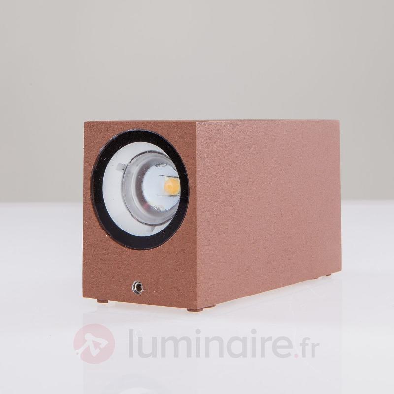 Applique d'extérieur LED Tavi total rouille - Appliques d'extérieur LED