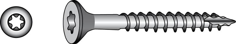 Quadra-Speed® facade, countersunk timber screws - Material A2 | A4