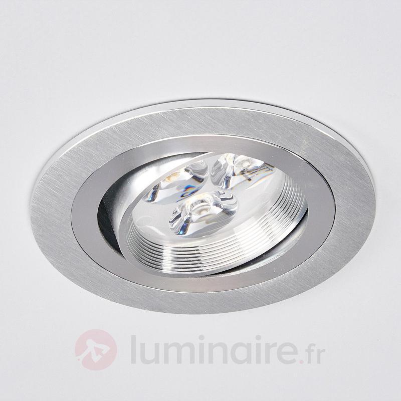 Spot rond encastrable LED Tjark en aluminium - Spots encastrés LED