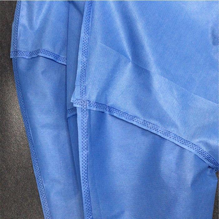 ثوب SS المتاح العزلة الجراحية - خامات SS ، لون أزرق ، 40 جرامًا في المتر المربع ثوب بدلة عزل  جراحي طبي