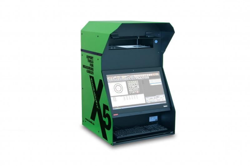 Appareil de mesure de câble VCPX5 - Système basé sur une caméra pour mesurer des géométries de câbles