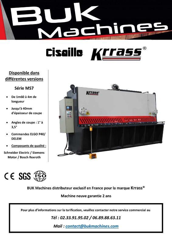 CISAILLE KRRASS serie MS7 - Tolerie Machines Neuves
