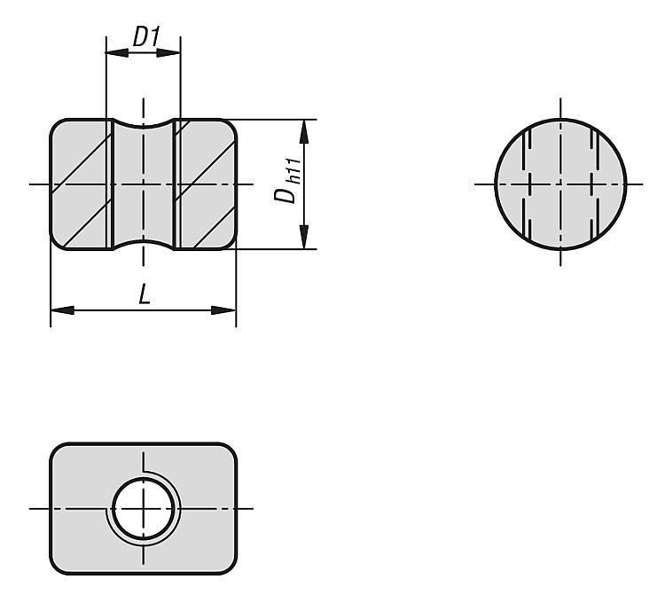 Tasseau rond - Système de bridage multiple