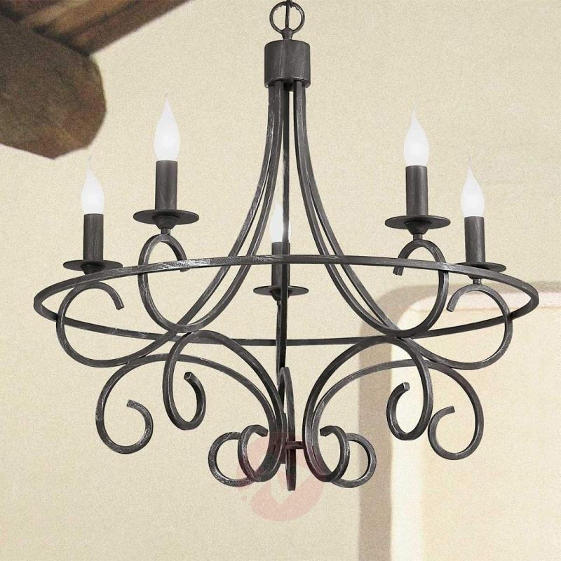 Wrought iron chandelier Tommaso