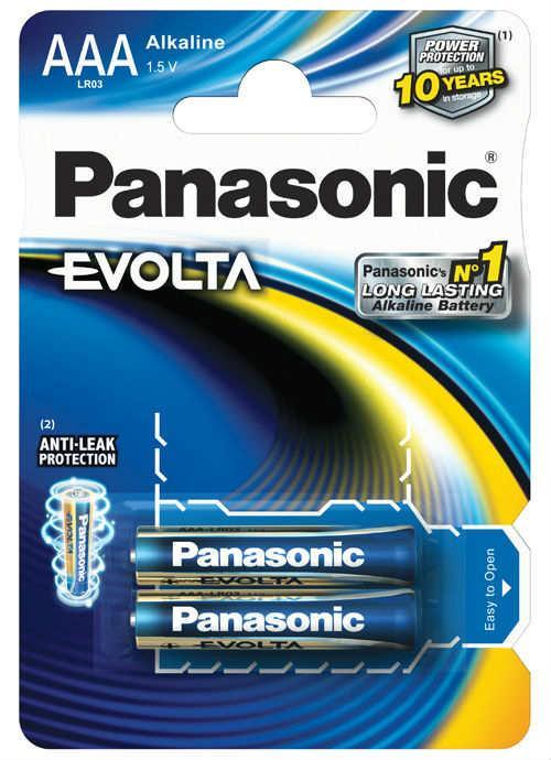 Batterie ministilo Evolta 2 pz - LR03EGE/2BP | Blister da 2 pile AAA Panasonic
