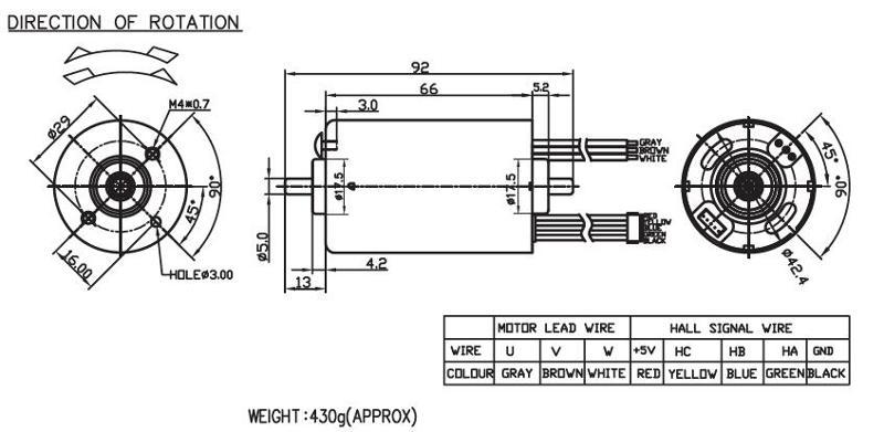 Brushless DC Motor/Round Type - BLDC4266