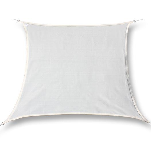 hanSe® Marken Sonnensegel 100% Polyester Quadrat 6x6 m Creme - null