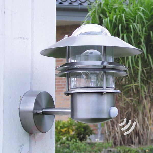 Applique extérieure inox BLOKHUS détecteur de mvt - Appliques d'extérieur avec détecteur