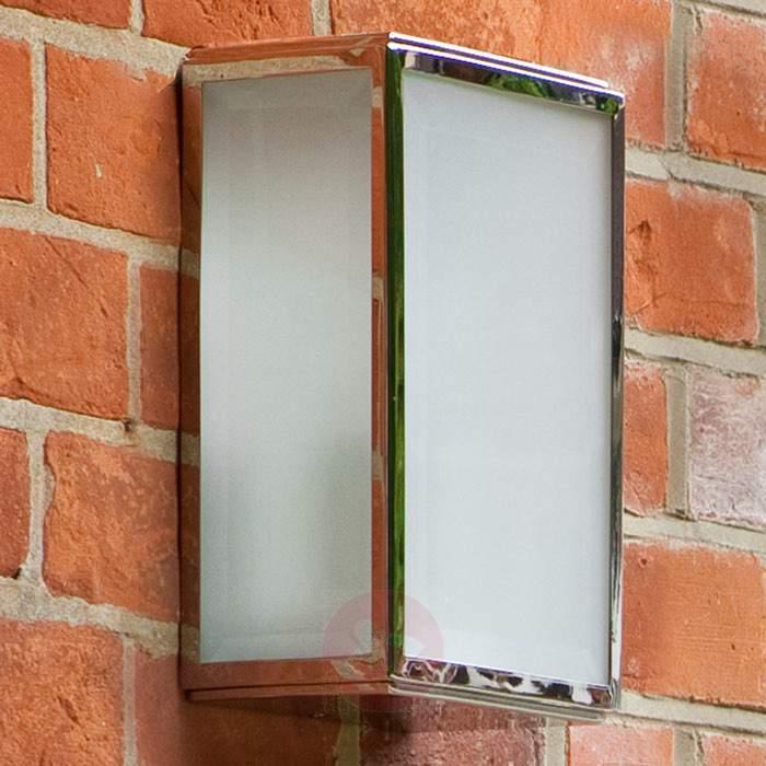 Homefield Outside Wall Light Matte Glass Nickel - Outdoor Wall Lights
